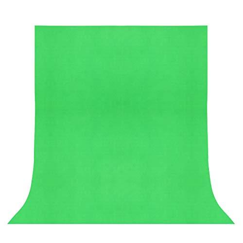 LEDMOMO Telón de fondo de la foto, telón de fondo de fotografía de color sólido no tejido telón de fondo de foto Telón de fondo de fotografía de estudio de tela (verde)