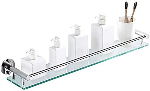 CHYOOO Estanteria Baño Templado Estanteria Cristal Rectangular Repisa de baño para cosméticos...