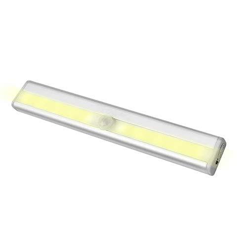 LED人感 人感センサーライト 充電式 光センサー LEDライト 省エネ 取り付け型 階段 クローゼット灯 物置【イエロー】