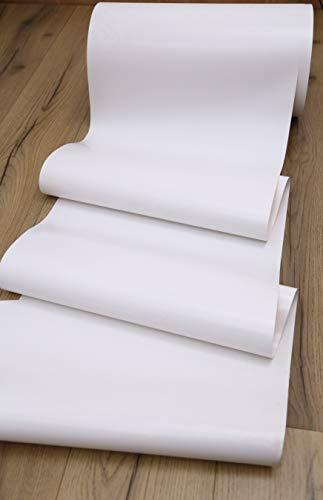 Fascia ombreggiante per pergola o gazebo, struttura con copertura a intreccio o onda - 45 cm / 60 cm -Una quantità = 1 metro lineare (45 cm, Bianco)