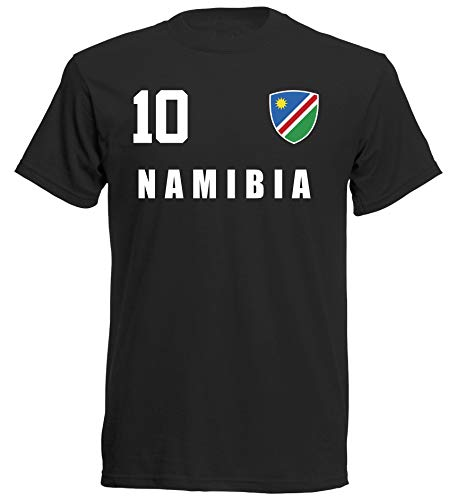 Namibia WM 2018 T-Shirt Trikot - schwarz ALL-10 - S M L XL XXL (M)