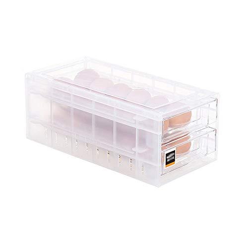 Refrigerator Egg Storage Bin Drawer Double-layer Stackable Fridge Egg OrganizerRefrigerator fresh-keeping boxEgg TrayClear24 grids