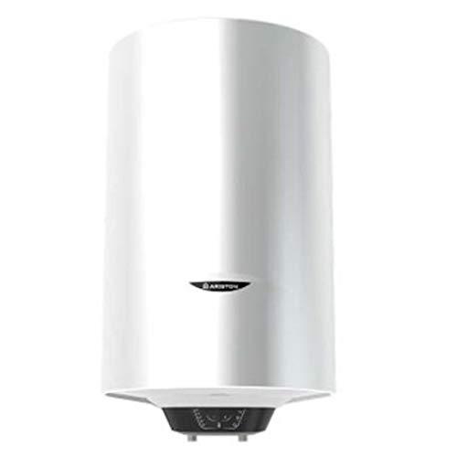 Termo eléctrico, modelo Pro1 Eco Dry Multis 120 EU 1800 W (2x900) de instalación multiposición, display de leds, función Eco Evo, doble resistencia envainada (Referencia: Ariston 3700586), blanco