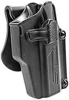 Amomax ホルスター ユニバーサルタイプ AM-UH Black 適用モデル:80種以上適合確認済み(例:VP9, Glock, Sig Sauer, CZ, Beretta, Smith &