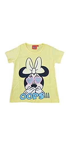 Sicem International Srl Camiseta de algodón para niño y niña, personajes de varios modelos B2wd26262 Amarillo 4 años