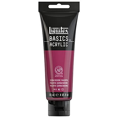 Liquitex BASICS Acrylic Paint, 4-oz tube, Quinacridone Magenta