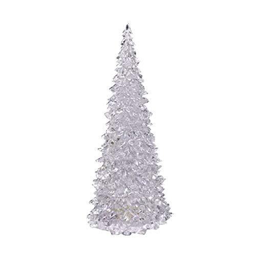 Corlidea 1 pieza de tablero de luces LED para árbol de Navidad, decoración de mesa, regalos (A)