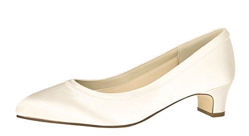 Rainbow Club Zapatos de novia Gisele + Fit – Ivory Satin –...