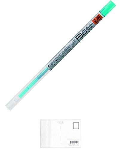 三菱鉛筆 Uni Stylefit ジェルボールペン リフィル 0.28mm スカイブルー (UMR10928.48) + 画材屋ドットコム ポストカードA