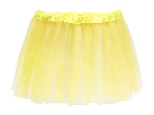 Alsino Alsino Tüllrock Mini Tütü Rock Minirock 50er 60er Jahre Ballettrock Tutu Tüllröckchen elastischer Bund, Variante wählen:LG0270 gelb