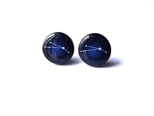 Sunshine Piscis para febrero Aries para marzo, adornos de cristal cúpula, regalos para ella,Joyería de constelación