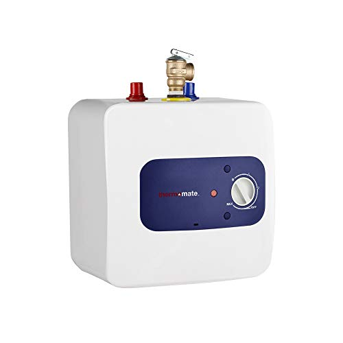 thermomate Mini Tank Electric Water Heater ES150 1.3 Gallons Point of Use Water Heater for Instant Hot Water Under Kitchen Sink 120V 1440W