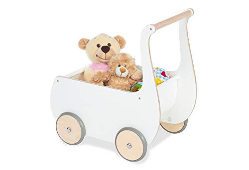 Pinolino Puppenwagen Mette aus Holz weiss