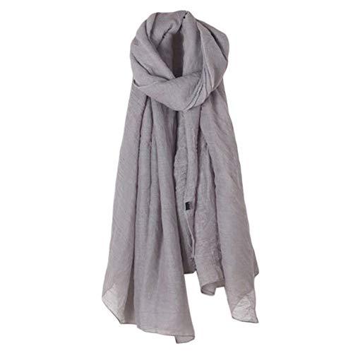 JMAHM Halstücher Schal Gaze Kopftuch Weiche übergroße Natürliche Damen Wrap (Dunkel grau, 180x135cm)