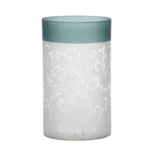 Yankee Candle 1521509Teal Vine Candle Holder, Glass–Teal/White, 8x 12x 12cm