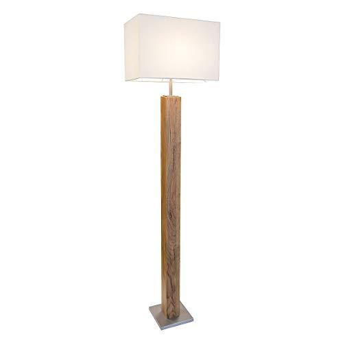 LED Stehleuchte GUMP Eiche hell,silberfarbig für 1xE27,max.40W H:120cm MADE IN GERMANY