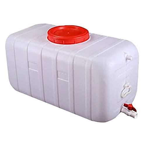 200l Capacidad Grande Tanque De Almacenamiento De Agua Hogar Calificación De Plástico Grande Cubo De Plástico Al Aire Libre Camping Agua Tanque De Agua con Tapa Y Válvula 89x47x47cm(Size:100L)
