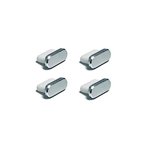 monofive USB3.1 Type-Cコネクタ防塵保護カバー (アルミニウム+プラスチック) 銀(4個入) MF-TPPC-A4S