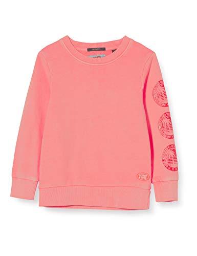 Scotch & Soda Shrunk Jungen Leuchtendes mit Artwork Sweatshirt, Rot (Neon Coral 0557), 116