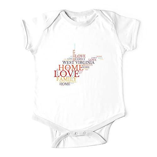 West Virginia Home, liefde, wortels en familiekaart Baby eendelige baby bodysuit baby onesie