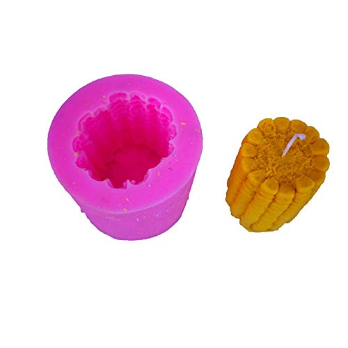 ZIUKENR Corn Candle Mould, Candle Moulds Silicone DIY Candles Mould, for Handcraft Ornaments Fondant Scented Candle Soy Wax Handmade Soap
