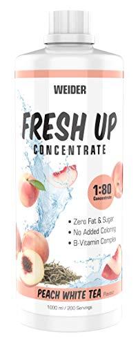 WEIDER Fresh Up Peach White Tea Getränkekonzentrat , zuckerfrei & ohne Farbstoffe, mit Vitaminen, 1 Liter