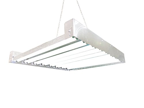 T5 HO Grow Light - 2 FT 16 Lamps - DL8216 Fluorescent Hydroponic Indoor Fixture Bloom Veg Daisy Chain with Bulbs