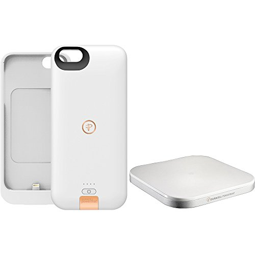 DURACELL POWERMAT PowerSet II Kit for iPhone 5 with Access Case and Powermat - Retail Packaging - White