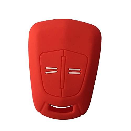 TGBVSiliconeCar Key Case Auto Key Cover para Opel Vauxhall Corsa Agila Meriva Astra H Zafira B 2 Botones Car Key Cover