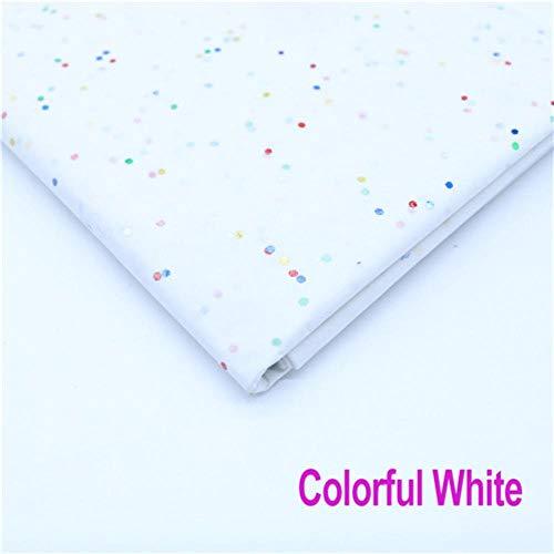 10 vellen 20x26 inch vloeipapier Bloemenkleding Overhemd Schoenen Geschenkverpakkingen Ambachtelijke papierrol Wijn inpakpapier, Glitter wit