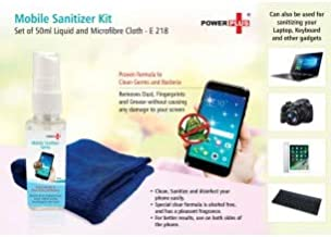 Lovato Mobile Sanitizer Kit with Liquid and Microfiber Cloth (Set of 50ml)