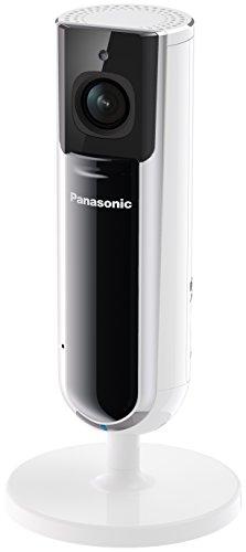 Panasonic KX-HNC800EXW Smart Home Überwachungskamera (Full HD, Anzeigeleuchten, Betrachtungswinkel vertikal:67°, Eingebaute Lautsprecher, SD-Karten Steckplatz, Montagetyp:Tisch/Wand)