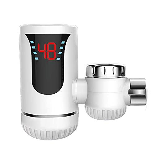 LeftSuper Grifo Universal de Agua Caliente y fría de Doble propósito eléctrico y Agua Caliente Grifo de conexión Caliente rápida de Tres Segundos Tipo Calentador de Grifo