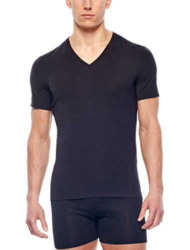 Icebreaker Mens Anatomica SS V Tshirt Homme Black/Monsoon FR : M (Taille Fabricant : M)