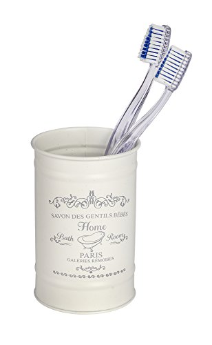 Wenko Vaso para cepillos de Dientes Home, Color Crema