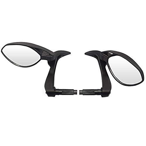 GUANG Revisión-Spiegel, 2 Stück 7/8'Motorrad Handschutz Handschutz Bremskupplungshebel Paar Seitenspiegel 22mm Rückspiegel para MT07 MT07 R3 R25 Banhai