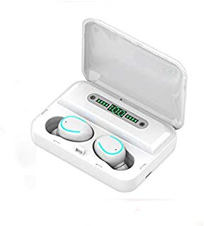 FairOnly F9-5 Earphones Blueteeth 5.0 Wireless Headphones Ergonomic In-ear Earbuds with 3600mAh Charging Case white Electronics