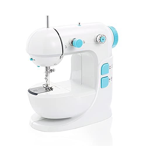 Mini Máquina De Coser Máquina de coser eléctrica pequeña y ligera ajustable Una máquina de coser doméstica pequeña adecuada para el hogar de los principiantes DIY Máquina De Coser Para Principiantes