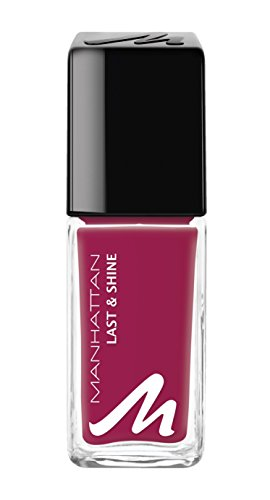 Manhattan Last & Shine Nagellack – Sinnlich roter, Nail Polish für 10 Tage perfekten Halt – Farbe Red Addiction 640 – 1 x 10ml