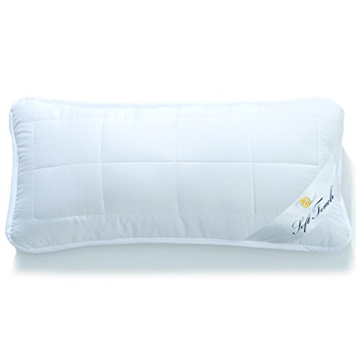 aqua-textil Soft Touch Kopfkissen 40 x 80 cm Mikrofaser Nackenkissen Hohlfaser Kissen Kochfest atmungsaktiv