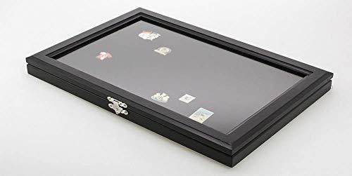 VITRINE für 100 Pins Ánstecknadeln schwarz Holzrahmen 5810 NEU 10433