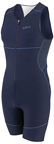 Review Louis Garneau - Men's Tri Comp Breathable, Padded, Sleeveless Triathlon Cycling Suit, Black N...