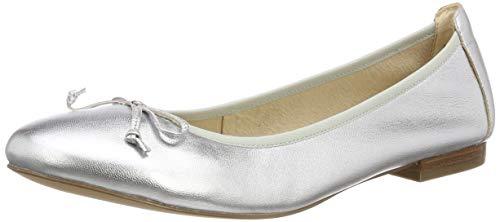 CAPRICE Damen Tasina Ballerinas, Mehrfarbig (Silver Metal. 920), 38 EU
