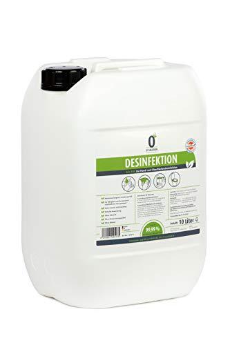 O3 Solution 10 Liter Desinfektionsmittel - Schnelldesinfektion zur Handdesinfektion & Flächendesinfektion - ohne Alkohol