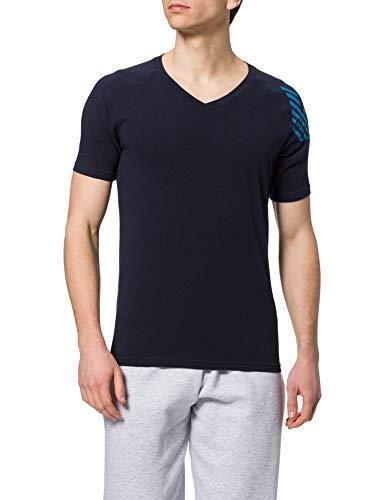 Emporio Armani Underwear T-Shirt Big Eagle Camiseta, Marine, L para Hombre