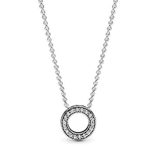 Pandora Collar con colgante Mujer plata - 397436CZ-45