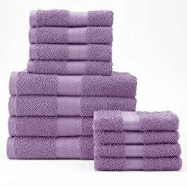 The Big One 12-pc. Bath Towel Value Pack Light Purple