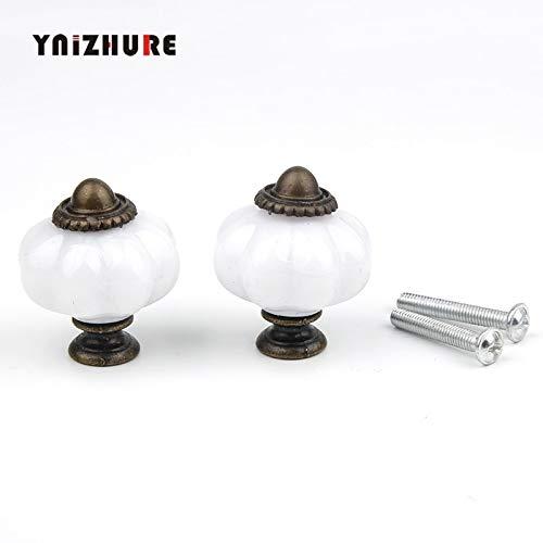 Bureze 2 STKS 30 * 36mm Moderne acryl knoppen en lantaarn handgrepen deur gelegeerd handvat kast lade keuken Pull handvat knop meubels