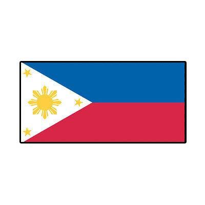 MAGNET Filipino Flag Philippines Pinoy Star Sun Magnetic Vinyl Car Fridge Sticks to any Metal Surface 5'