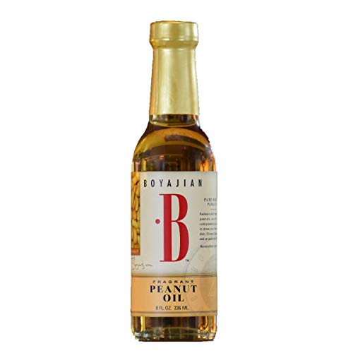 Boyajian 8 Oounce Fragrant Peanut Oil - Rich, Fragrant, Cold Pressed Oil for Asian Cooking, Dressings, Sauces and Marinades